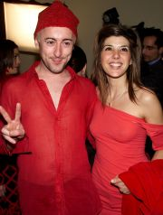 Alan Cumming with Marisa Tomei at the after-party gala for the 'The Vagina Monologues' benefit at the Hammerstein Ballroom in New York City. 02/10/2001. Photo: Evan Agostini / ImageDirect