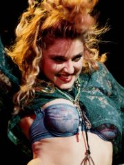 10 Apr 1985, Seattle, Washington, USA --- Madonna Performing in Her First Concert --- Image by © Roger Ressmeyer/CORBIS