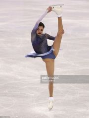 during the Figure Skating **** on day two of the PyeongChang 2018 Winter Olympic Games at Gangneung Ice Arena on February 11, 2018 in Gangneung, South Korea.
