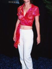 Robin Tunney at NATO SHOWEST 2000, Las Vagas Nevada, 03/07/00 (Tammie Arroyo-Fashion Wire Daily)
