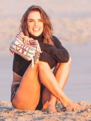 51914347 Model Alessandra Ambrosio out for a photo shoot in Malibu, California on November 20, 2015.  She was sporting a variety of clothing from dresses to swim suits. FameFlynet, Inc - Beverly Hills, CA, USA - +1 (818) 307-4813