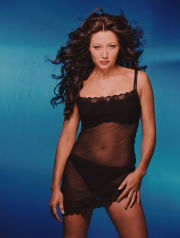 Actress Shannen Doherty Wearing Transparent Slip ca. 2000