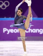 competes in the Figure Skating Team Event – Ladies' Short Program on day two of the PyeongChang 2018 Winter Olympic Games at Gangneung Ice Arena on February 11, 2018 in Gangneung, South Korea.