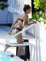51612200 Actress Katie Cassidy shows off her bikini by the pool with friends in Miami, Florida on December 20, 2014. Katie is taking a break from playing the DC comics super hero Black Canary on the hit TV series 'Arrow.' FameFlynet, Inc - Beverly Hills, CA, USA - +1 (818) 307-4813