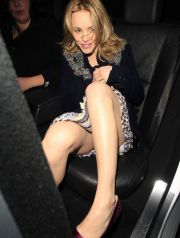 49955, LONDON, UNITED KINGDOM - Tuesday January 11 2011. Rachel McAdams leaves little to the imagination in a revealing dress as she gets into her car after dinner with her