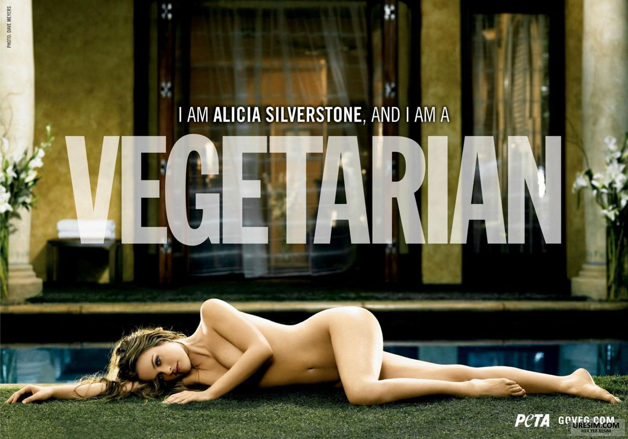 Alicia silverstone poses totally naked for peta